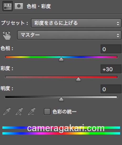 色相・彩度