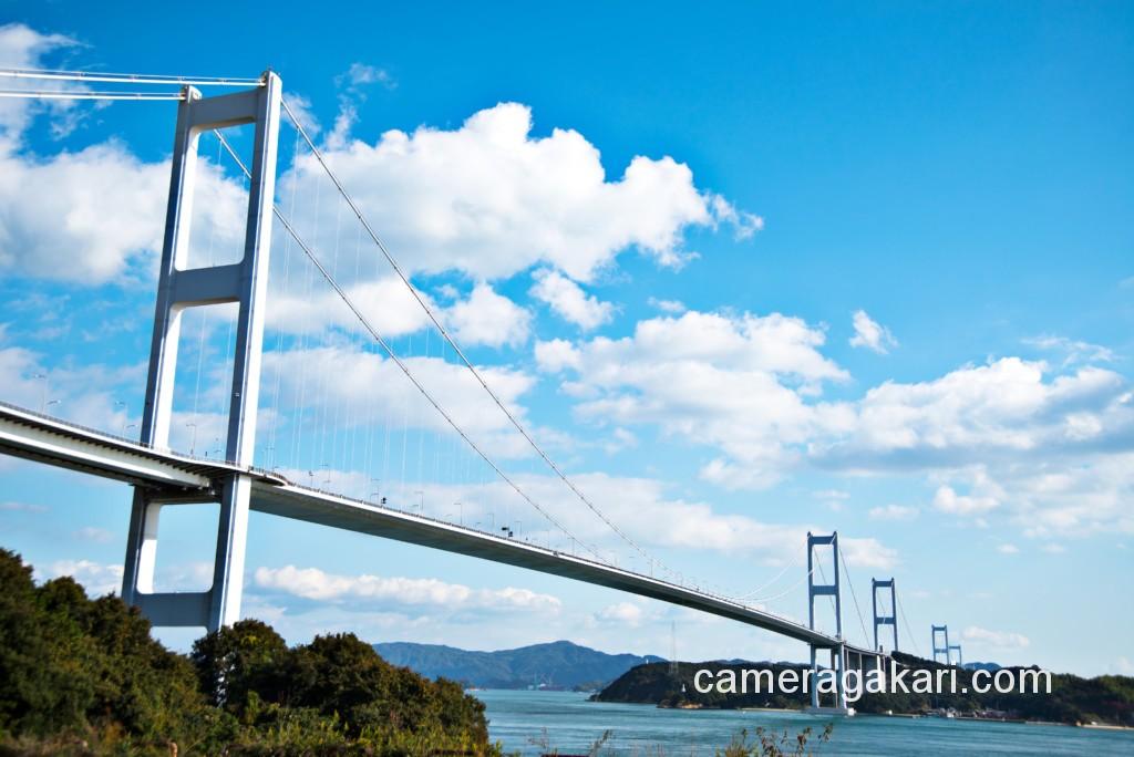 しまなみ海道 青空の来島海峡大橋