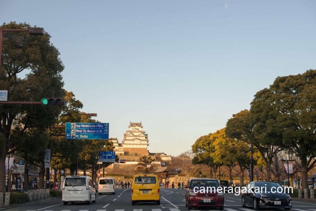 夕方の姫路城