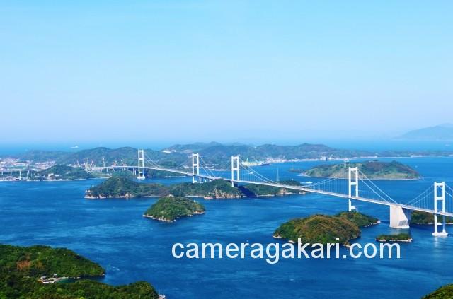 しまなみ海道 来島海峡大橋 亀老山展望台からの眺め
