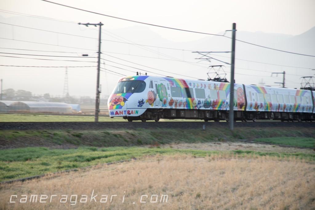 アンパンマン列車の写真 透かし