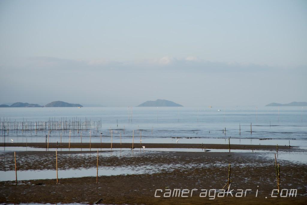 東予港から眺めた瀬戸内海