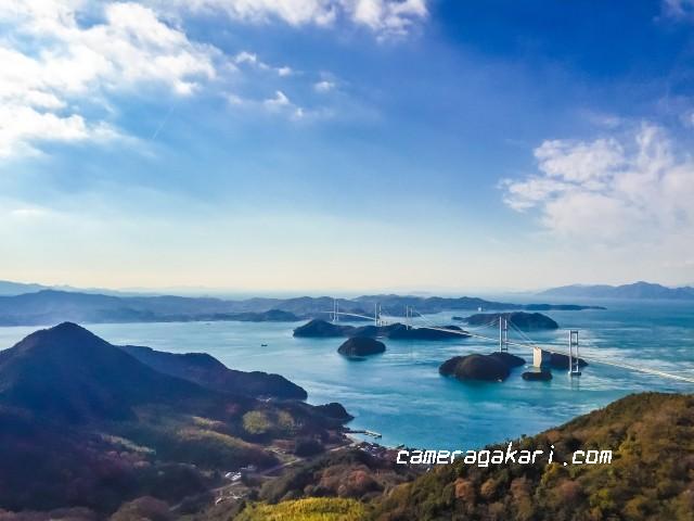 しまなみ海道 来島海峡大橋 亀老山展望台から