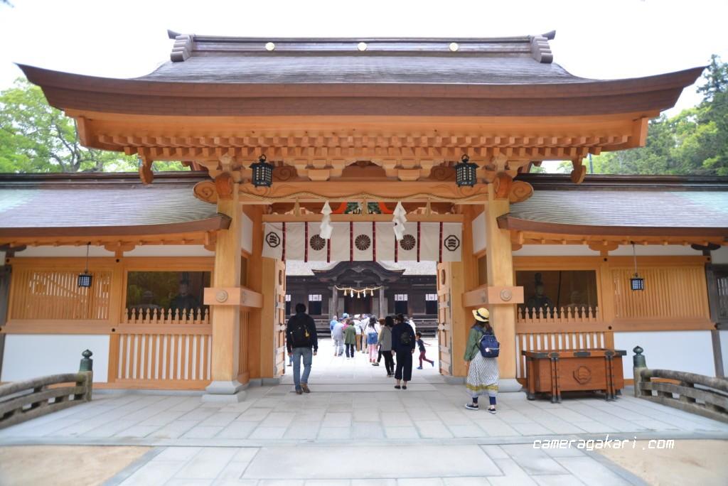 大山祇神社の正門