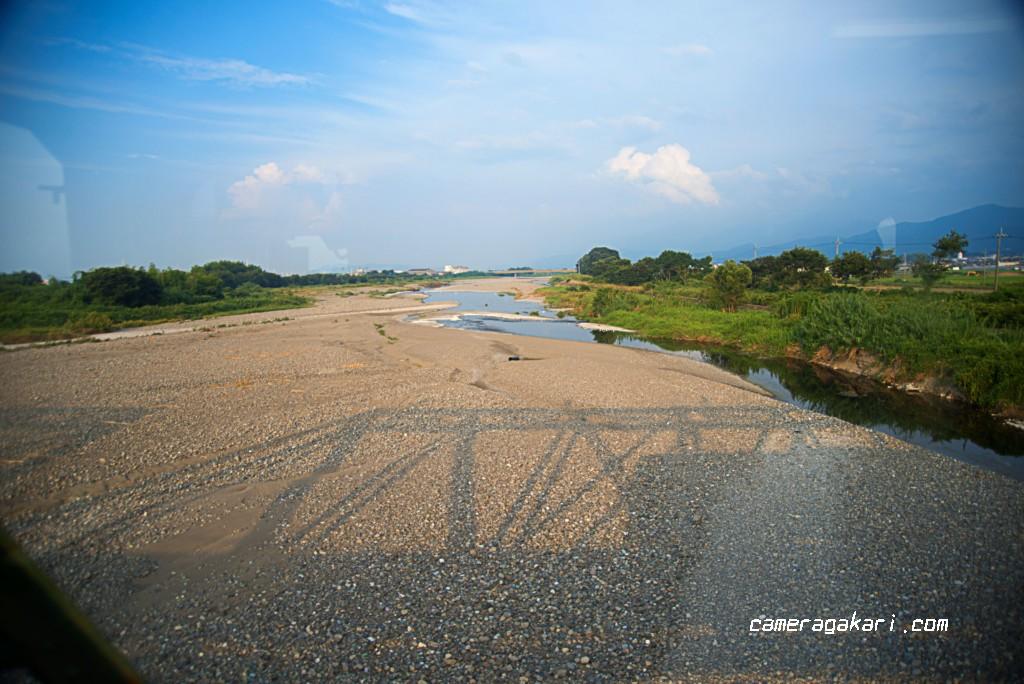 中山川 車窓からの撮影