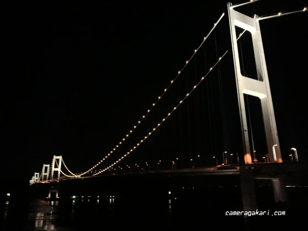 来島海峡大橋 ライトアップ