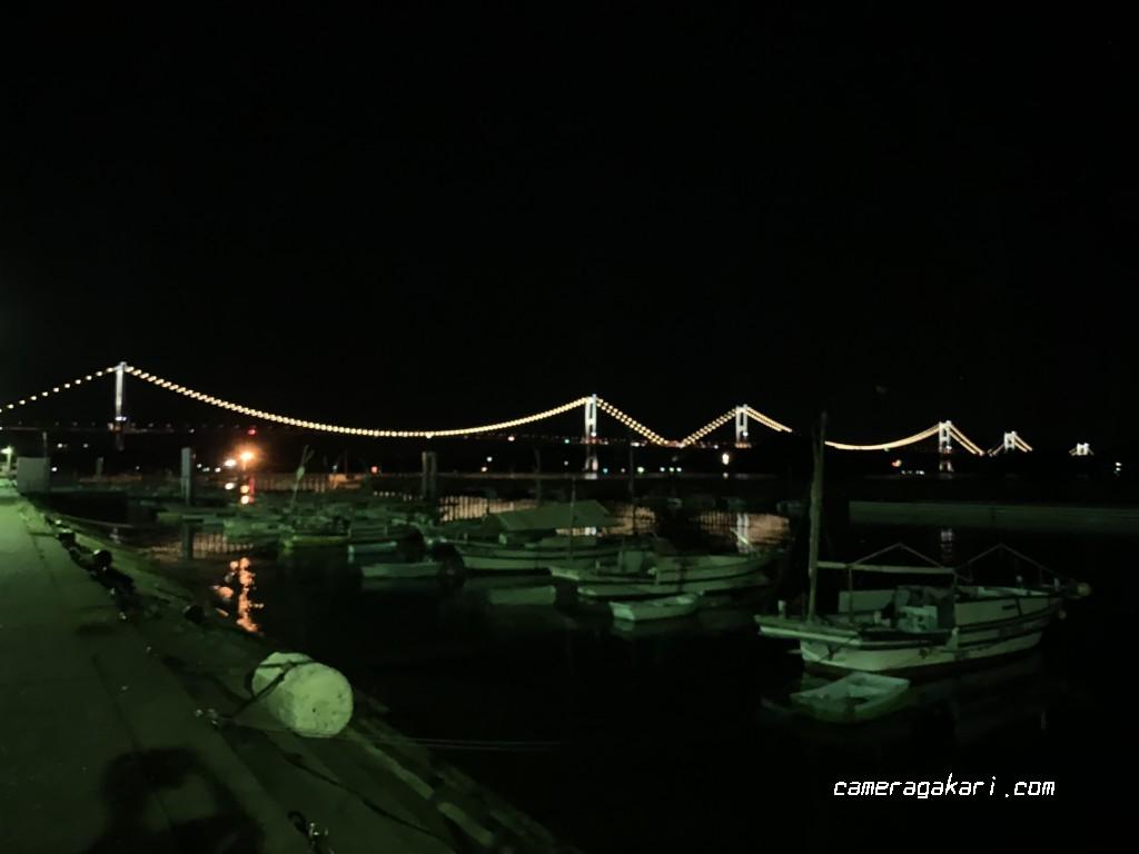 来島海峡大橋 夜景 iPhone XS Max