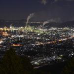 具定展望台からの夜景撮影