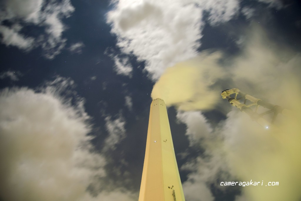製紙工場の煙突
