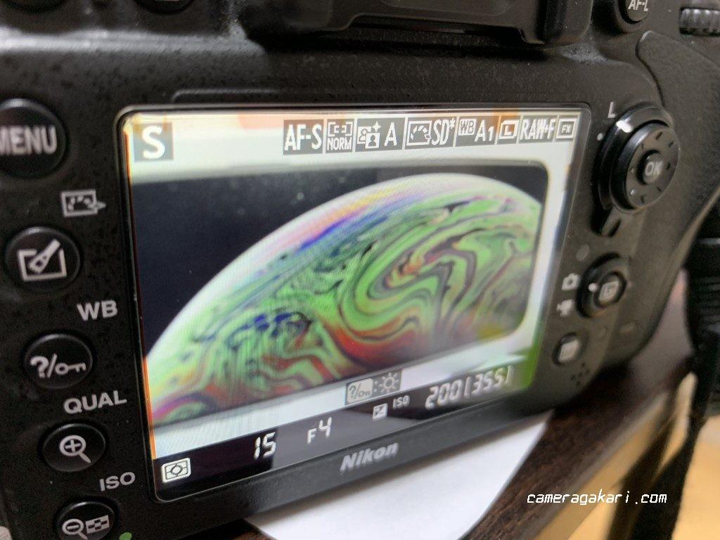 一眼レフカメラ 液晶表示