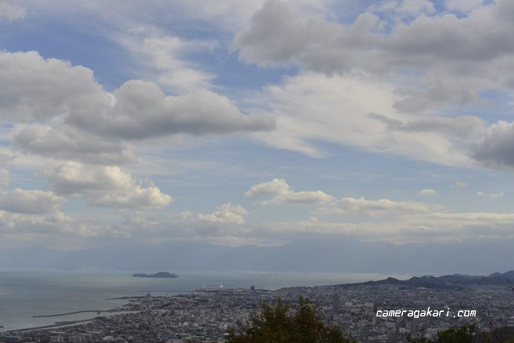 近見山展望台から見た今治市内