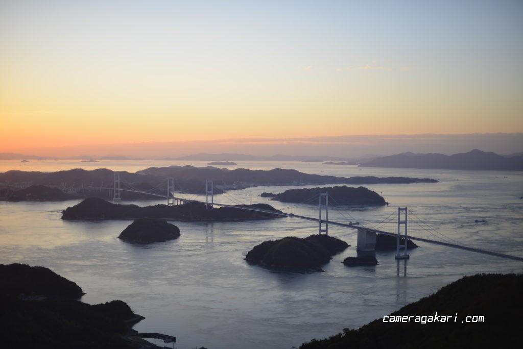 亀老山展望台からの来島海峡大橋