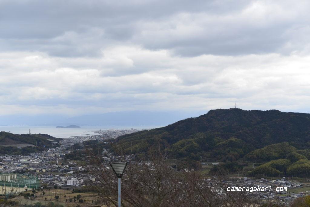 海山城展望公園から見る今治市内