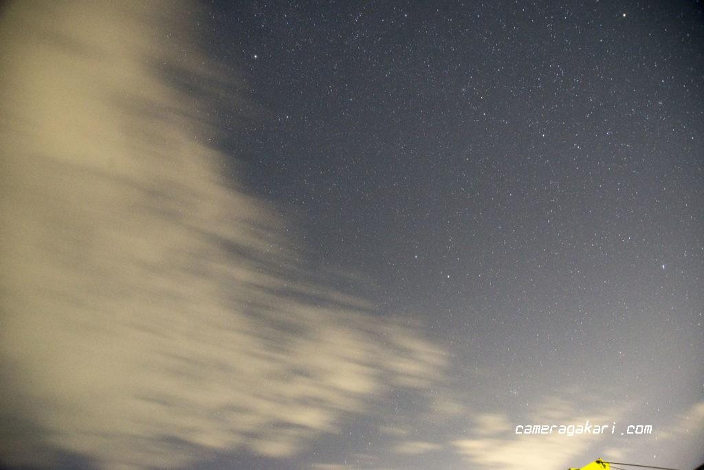 流星群を探す星空撮影
