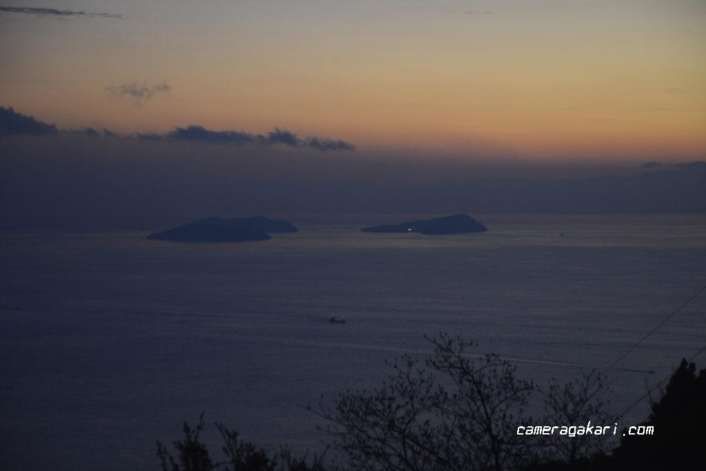 亀老山展望台からの眺め 四阪島