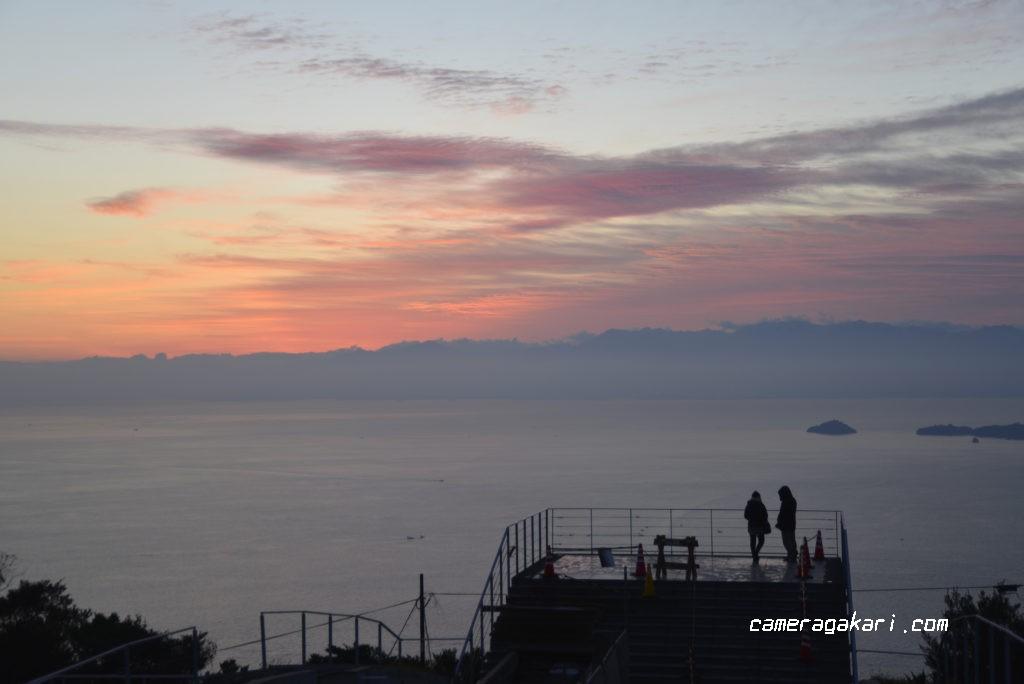 亀老山展望台からのマジックアワー