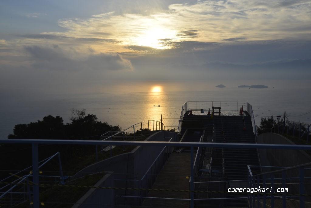 亀老山展望台からの眺め