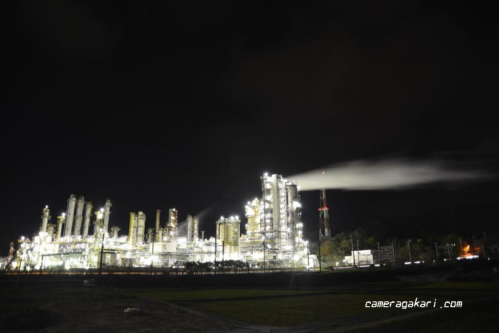 菊間の工場夜景