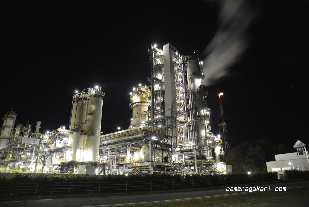 国道11号線からの工場夜景撮影