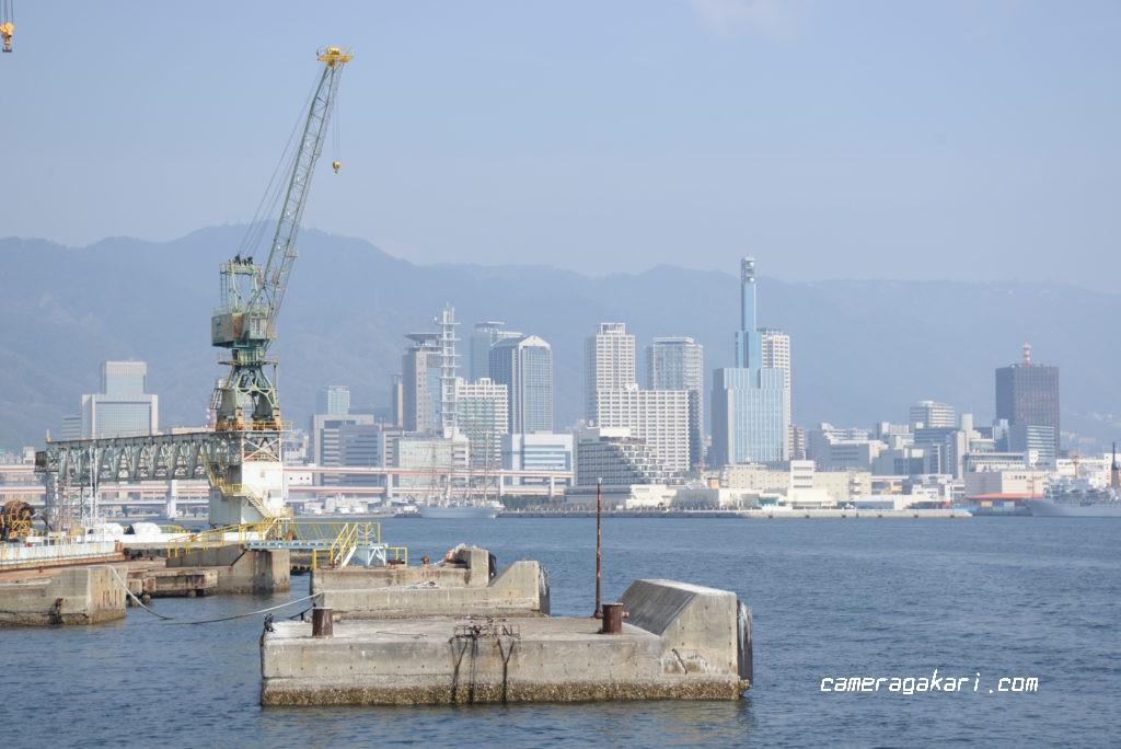 遊覧船から見た神戸の街並み