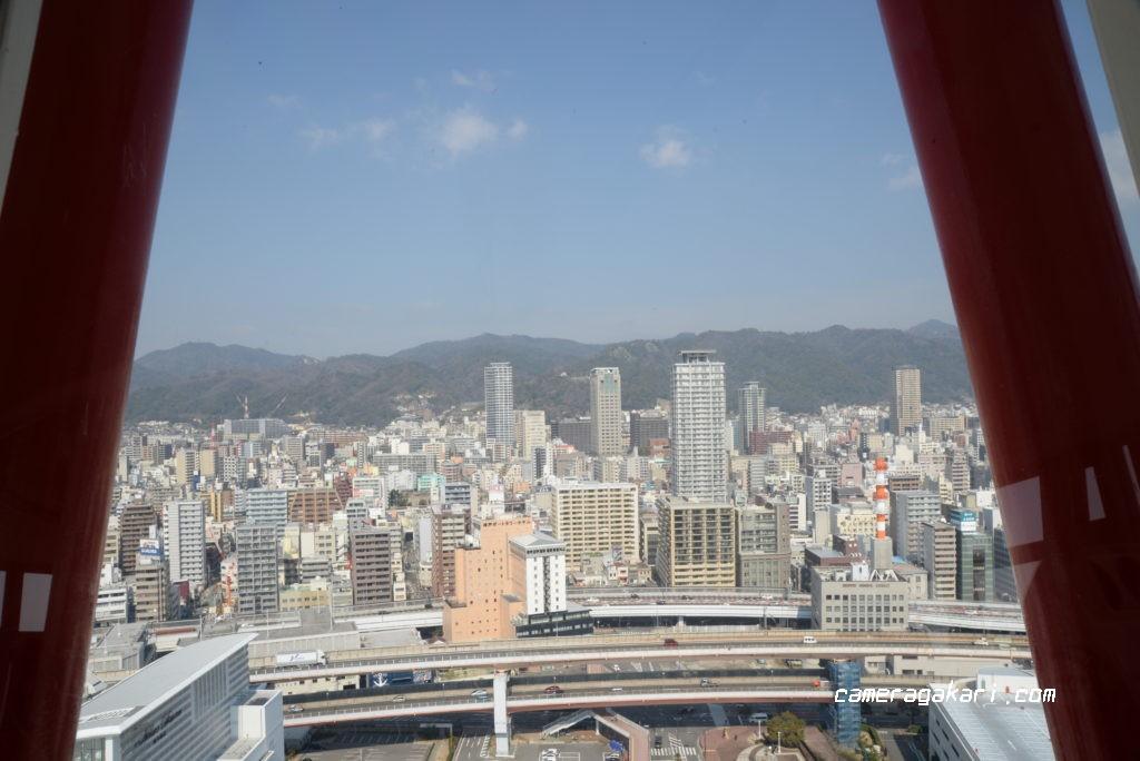 神戸ポートタワーからの眺め