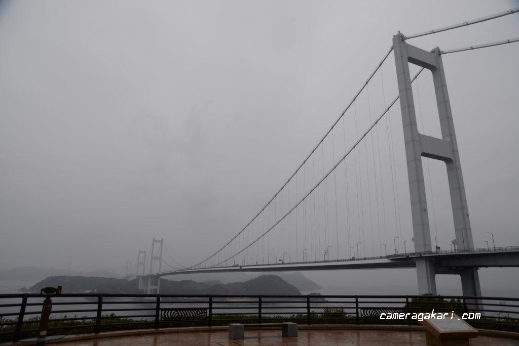 霧の来島海峡大橋