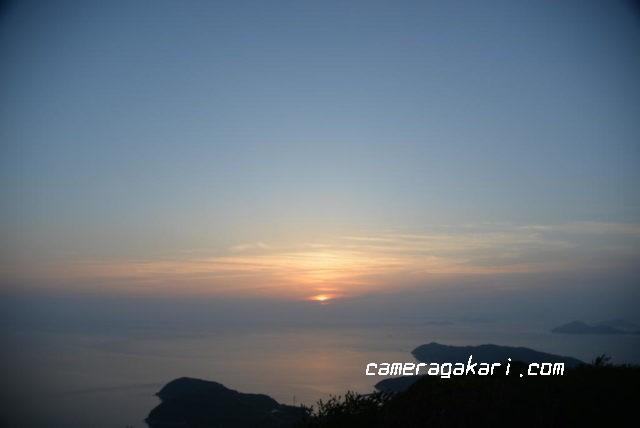 燧灘に沈む夕陽