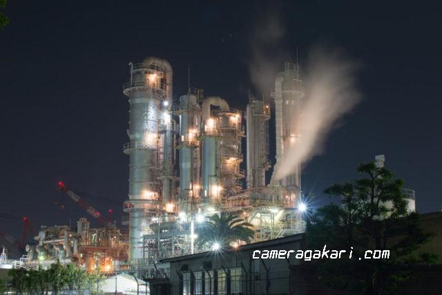 住友化学の工場夜景