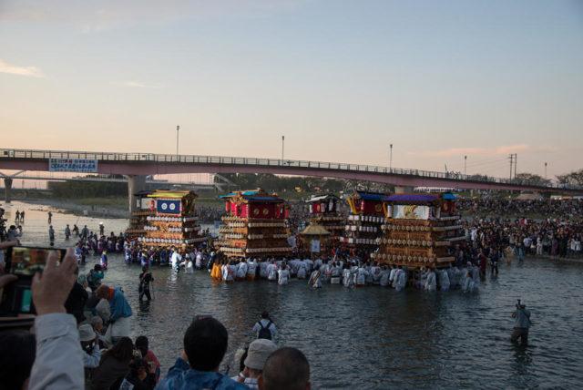 西条祭り 川入り