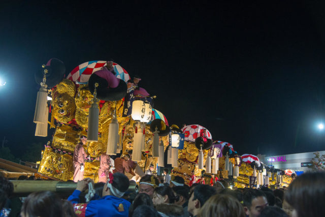 新居浜太鼓祭り 夜太鼓
