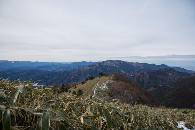 堂ヶ森 稜線