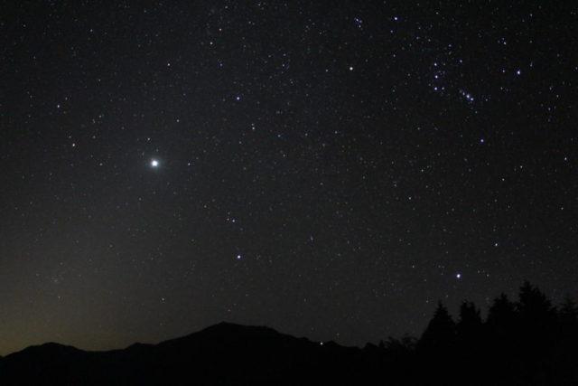 一眼レフカメラで撮影した星空