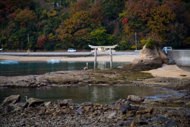 愛媛県今治市 御崎神社 海の鳥居