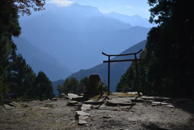 横峰寺奥之院『星ヶ森』の鳥居