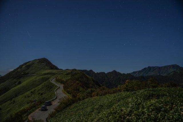 UFOライン 東黒森の山道から撮影