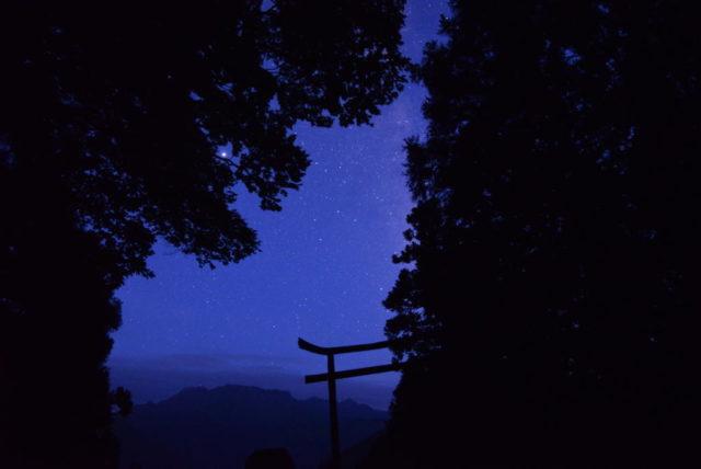 星ヶ森から見る石鎚山