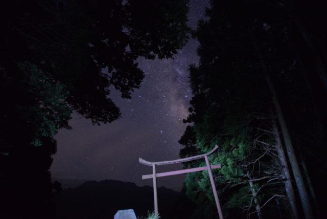 星ヶ森と天の川